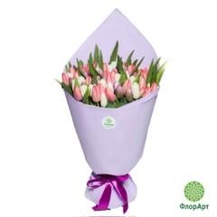 Букет из 101 нежного тюльпана