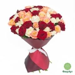 Букет из 51 российских роз